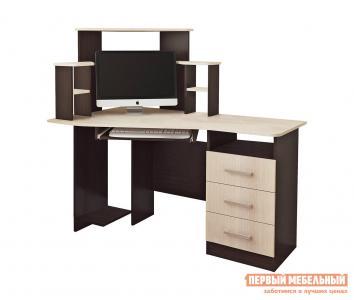 Компьютерный стол  Каспер Венге / Лоредо BTS. Цвет: темное-cветлое дерево