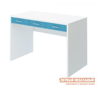 Компьютерный стол детский  СП-32С Белый жемчуг / Синий мрамор Мэрдэс. Цвет: белый