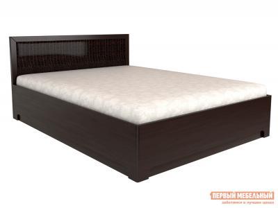 Двуспальная кровать  Парма 1 / Кровать с подъемным механизмом Венге Искусственная кожа caiman, 1400 Х 2000 мм, КУРАЖ. Цвет: коричневый