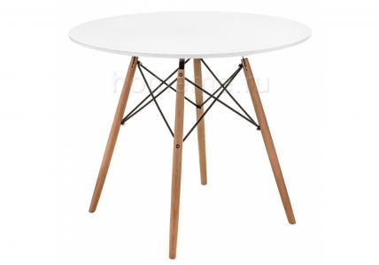 Стол деревянный Table T-06 80 11250 (15909) HomeMe. Цвет: белый