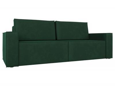 Прямой диван  Лофт Зеленый, велюр Столлайн. Цвет: зеленый