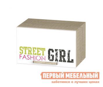 Полка детская  Шкаф антресольный Сенди Дуб сонома / Girl BTS. Цвет: белый
