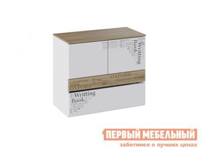 Детская тумба  Оксфорд ТД-139.04.01 с ящиком и 2-мя дверями Дуб Ривьера / Белый рисунком ТриЯ. Цвет: белый