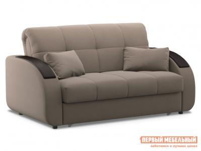 Прямой диван  Уильям / Люкс Латте, велюр , 140х200 см, Пенополиуретан Живые диваны. Цвет: бежевый