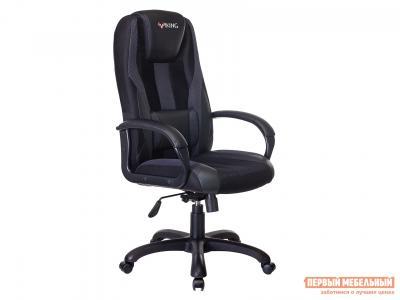 Игровое кресло  VIKING-9 Черный, экокожа / сетка Бюрократ. Цвет: черный