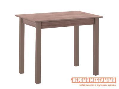 Кухонный стол  обеденный прямая ножка Капучино (массив) / Шимо темный (ЛДСП) Боровичи. Цвет: коричневое дерево