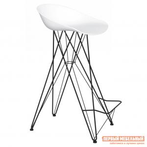 Барный стул  Sheffilton SHT-ST19/S66 Белый / Черный муар Sheffillton. Цвет: белый