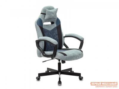 Игровое кресло  VIKING 6 KNIGHT Синий, ткань/экокожа Бюрократ. Цвет: синий