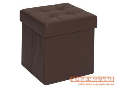 Пуфик  Фолд Коричневый, экокожа DreamBag. Цвет: коричневый