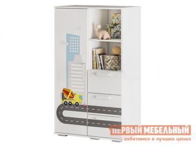 Шкаф детский  Трио многофункциональный ШК-10 Белый, логика BTS. Цвет: белый